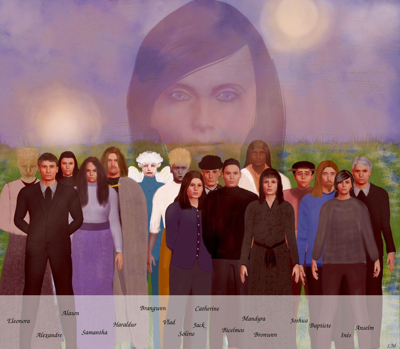 Les principaux personnages de Trahisons.