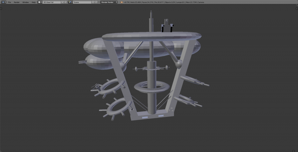 Base principale - modèle 3D